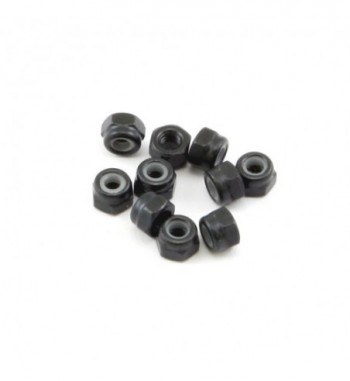 Self-locking nut M3 black (10)