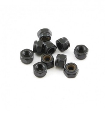 Self-locking nut M4 black (10)
