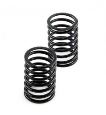 Shock spring rear black -...
